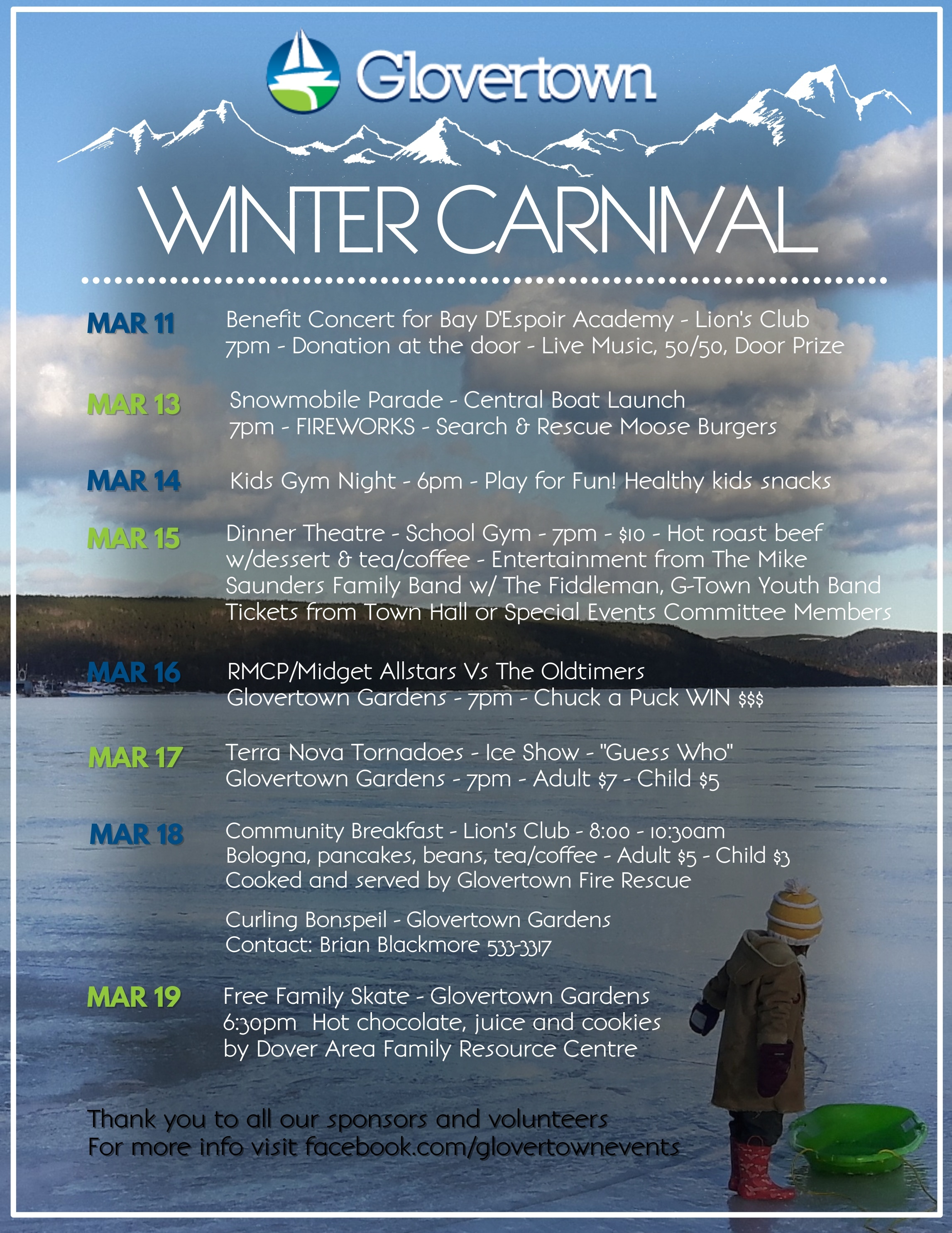 Winter Carnvial Schedule